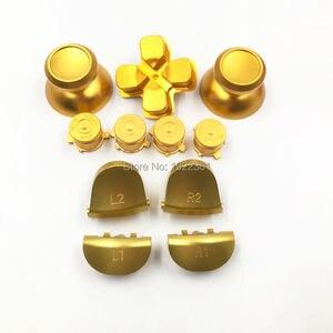 Image 3 - أزرار الرصاصة المعدنية الجمركية thumbstick cap L1 R1 L2 R2 Dpad من الألومنيوم لأزرار تحكم PS4 Dualshock 4 JDM001 JDM011