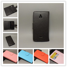 For Nokia X2 X2 Dual SIM X2DS Lichi Texture Leather Case Pou