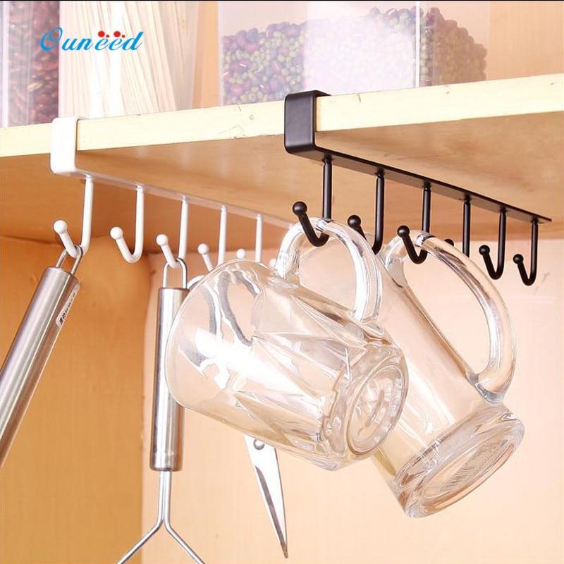 Ouneed Iron Sturdy Kitchen Bedroom Storage Rack Hanging Hook Shelf Dish  Hanger Chest Storage 1PC(