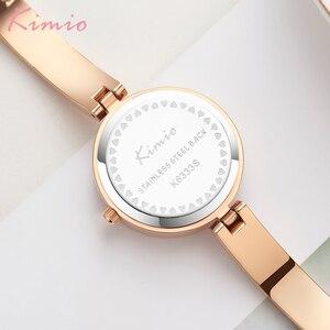 Image 3 - KIMIO New 2020 Women Watches Luxury Rhinestone Rose Gold Ladies Watch Stainless Steel Women Bracelet Watch Quartz Female Clock