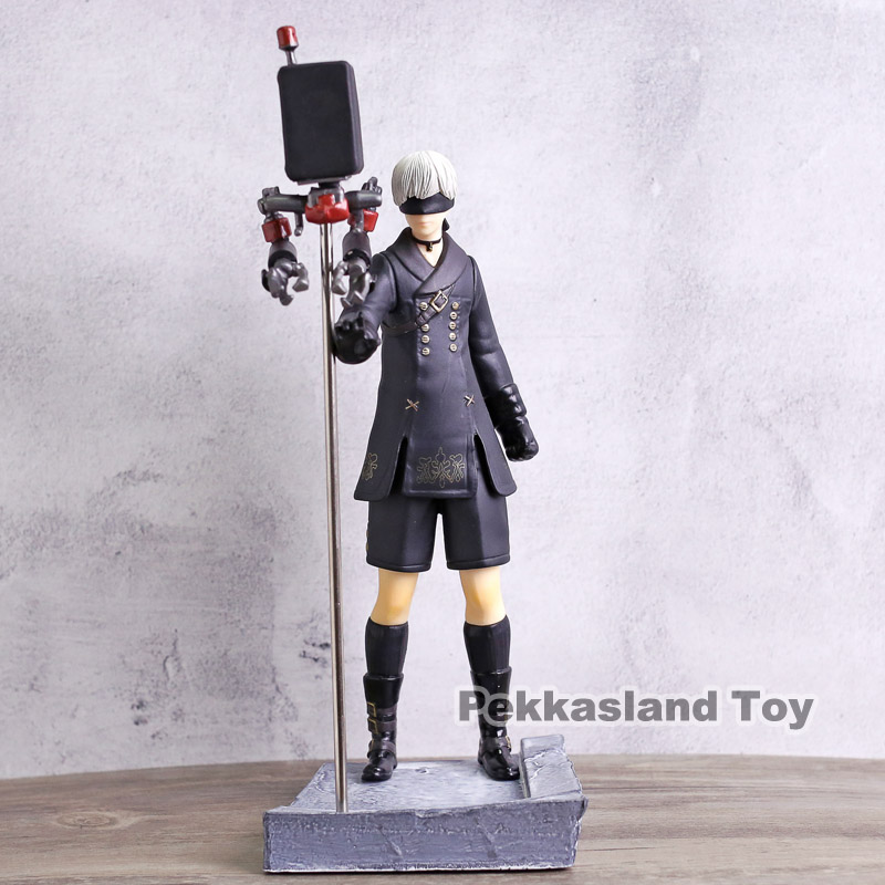 Hot Game NieR Automata YoRHa No.9 Type S 9S Big Size Figure Collectible Model Toy 28cm