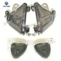 Motorcycle Front Rear Turn Signals Blinker Indicator Lenses Smoke For 2004 2005 KAWASAKI Ninja ZX10 ZX10R