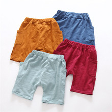 2016 Boys Shorts Bermudas Kids Summer Models Of Child Cotton Shorts Korean Side Pocket Harem Boys And C-wzd084