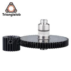De Precisão em aço Inoxidável Trianglelab-branqueado 1 hobb Titan Gear & engrenagem do motor ENGRENAGEM CONJUNTO KIT para impressora 3d reprap titan Extrusora