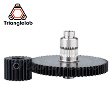 Trianglelab Stainless steel Precision milled hobb Titan Gear& motor gear 1SET GEAR KIT for 3d printer reprap Titan Extruder