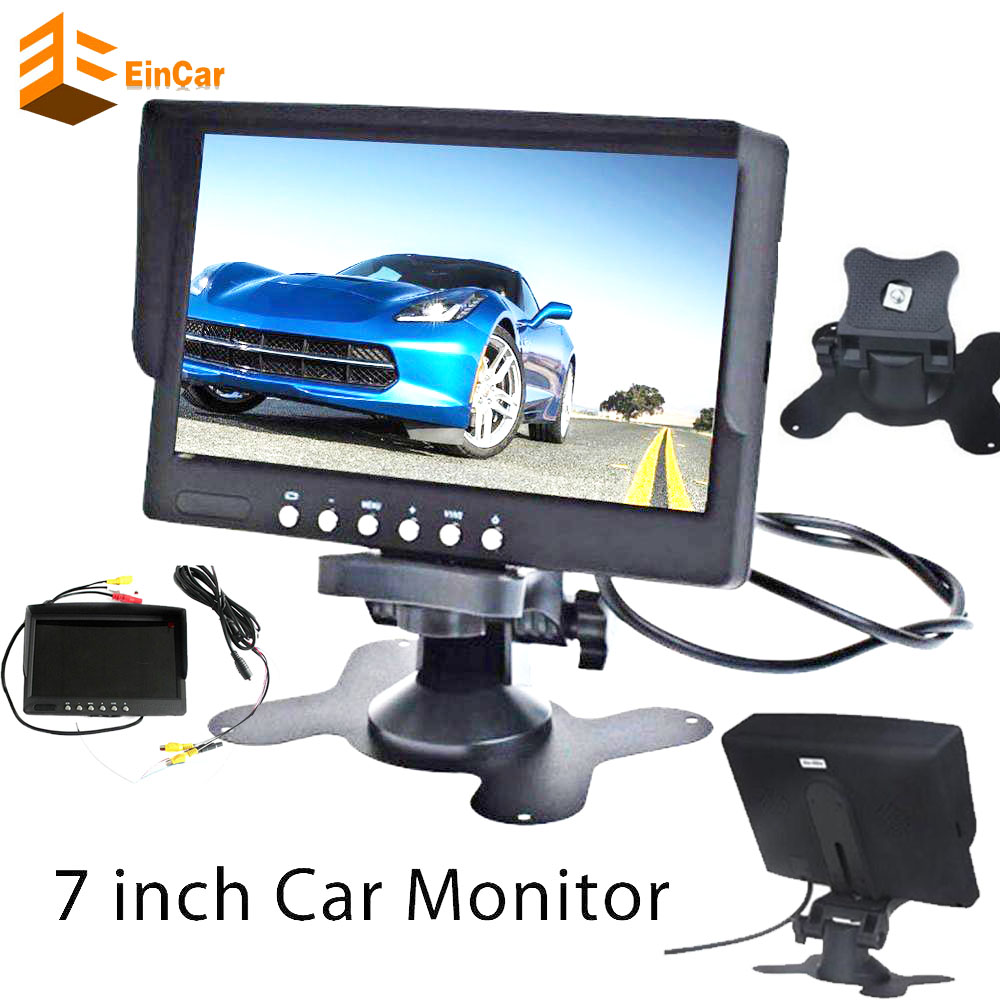7Inch big TFT LCD Display Screen Car monitor with Auto 2 video Input Car Rear View