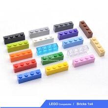 Bloques de construcción de Base de plástico para niños, 1X4 x DIY, juguete educativo de ensamblaje, bloques de construcción, paticulas pequeñas para niños, regalos, juguetes de aprendizaje, 100 unids/lote