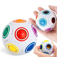 Mini Antistress Magic Cube Finger Toy Chancery Relief Stress Rainbow Ball Puzzles Toy for Children Adult Gift(China)