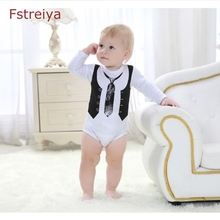 Baby bodysuit lucky child tiny cottons 2018 kid clothes Toddler Infant Playsuit first birthday outfit boy Jumpsuit long sleeve
