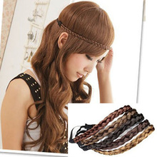 2017 Girl Wig Braid Headband Bohemian Ladies Headdress Europe And The USA Classic Solid Color Women Hair Accessories TD-155