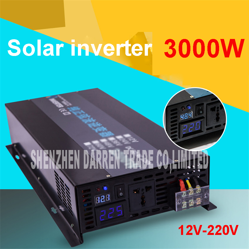 LED display Off grid solar <font><b>inverter</b></font> RBP-3000S 12/24/48VDC to 110/220VAC <font><b>3000</b></font> W nominal sinusoidal Pure Wave Power <font><b>Inverter</b></font> image