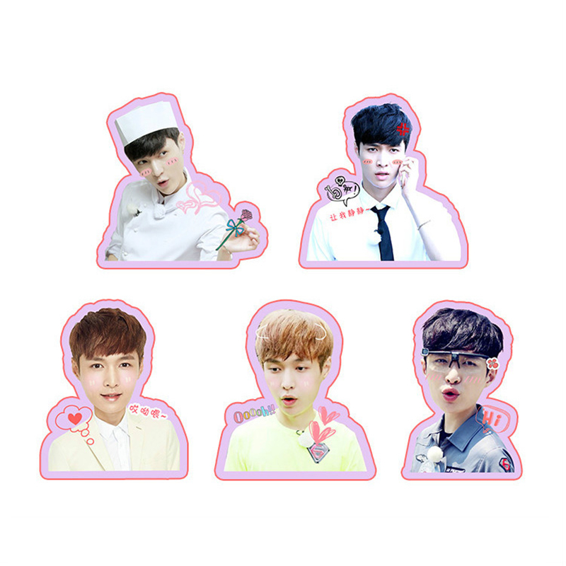 Beads & Jewelry Making Humorous Kpop Exo Sehun Chanyeol Cute Pvc Sticker For Laptop Cup Notebook Scrapbook Diy Stickers Waterproof Moderate Price Jewelry & Accessories