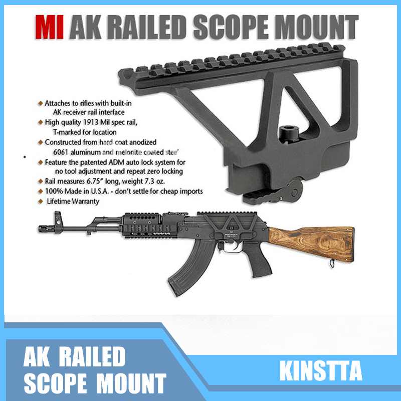 Scope Mounts & Accessories For Hunting Ak 47 Ak 74 Rifle Scope Quick Detach Ak Gun Side Rail Scope Mount Base Fits 20mm Picatinny Side Rail Mounting
