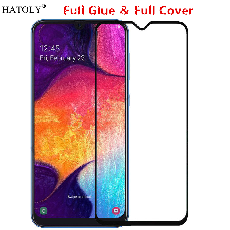 For Samsung Galaxy A50 Glass Tempered for Film Full Glue Cover Screen Protector