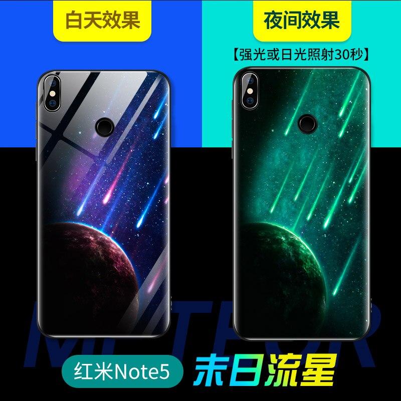 Luminous Glass Case For Xiaomi MI 9 8 8Lite 8SE MI 5X 6X Cover For xiaomi