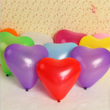 10pcs/lot Hot New 10inch heart latex balloon air balls inflatable wedding birthday party decoration Float balloons toys 7Z