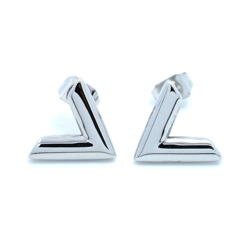 FYSARA Luxury Brand Jewelry Simple Design V Letter Earrings para - Bisutería - foto 4