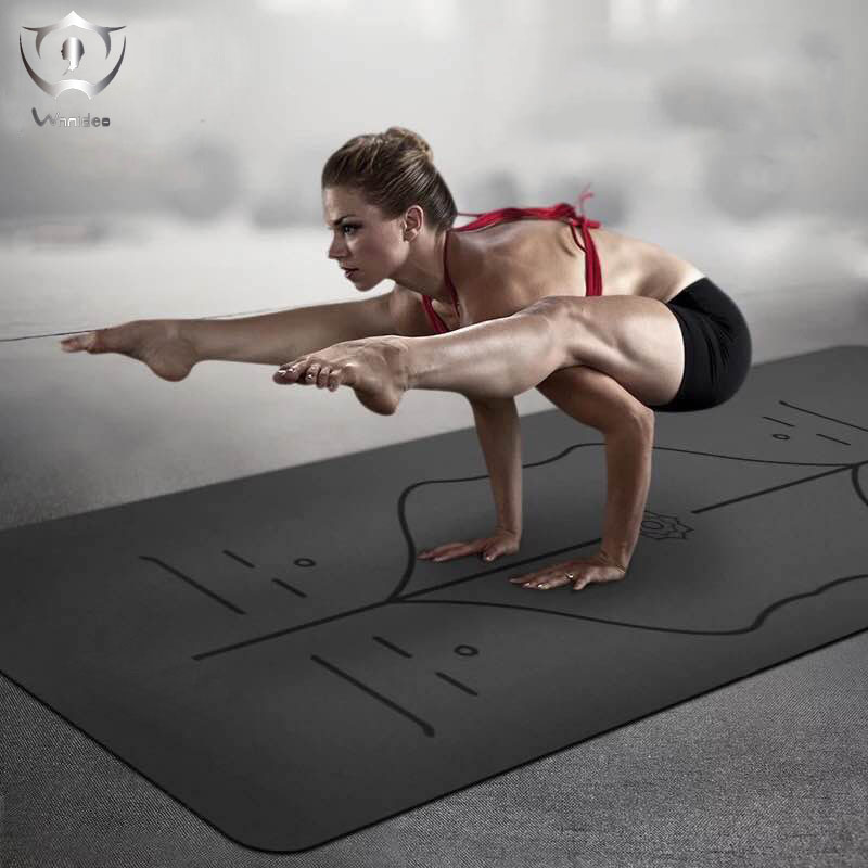 2018 Wnnideo 1 pcs Yoga Mat Professional Trainer High Level New Non-slip Exercise Yoga 183*68*0.5CM dmasun slip resistant yoga blanket good quality gymnastics yoga mat towel non slip fitness bikram towels