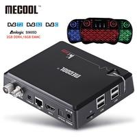 KI MECOOL Pro Android 7.1 DVB S2 + DVB T2/C TV Box Amlogic S905D Quad core DDR4 2 GB 16 GB 2.4G/5G WiFi HD UHD 4 K H.265 Media odtwarzacz