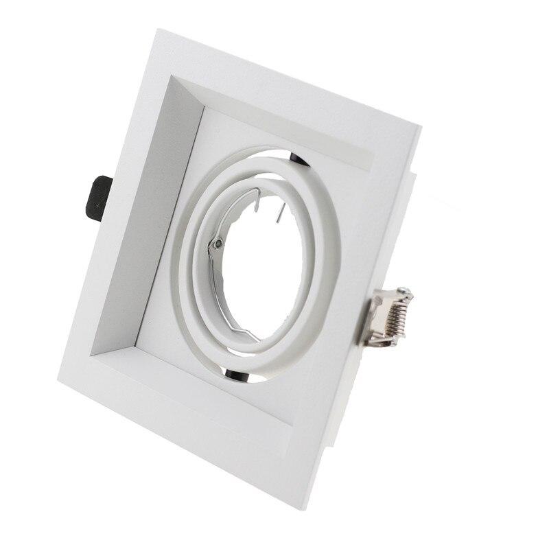 2pcs/lot Square LED Halogen Bulbs Downlight Frame MR16 GU10 LED Spot Lights Housing Fixture Led Ceiling Light Fittings For Hotel