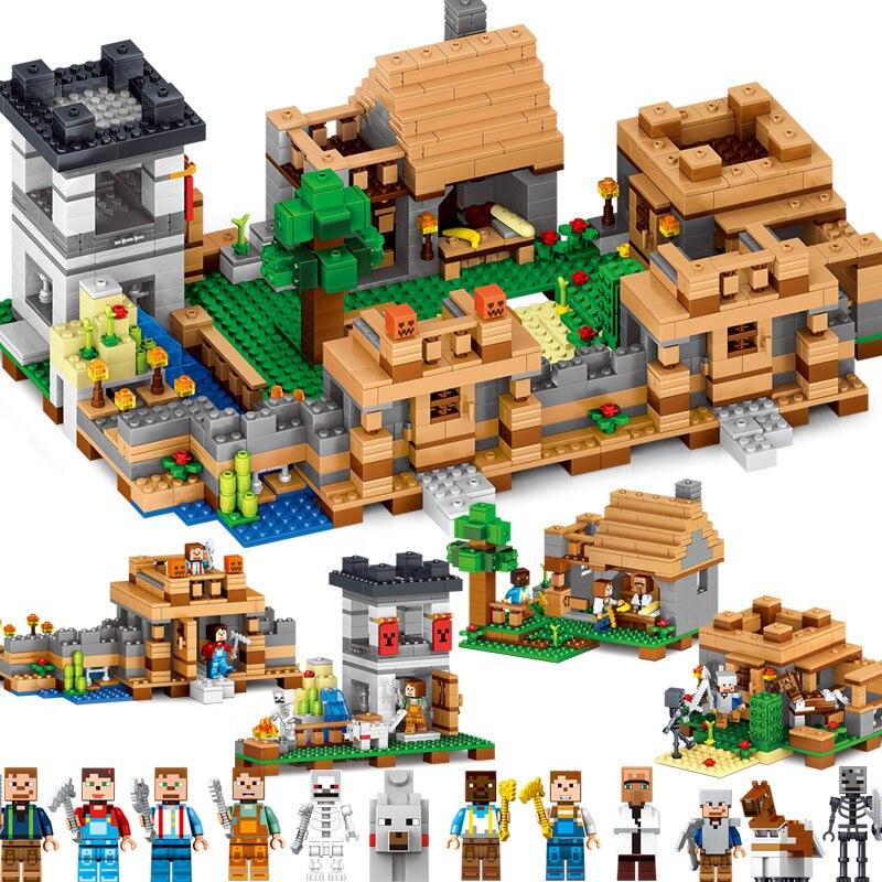 2017 IL MIO MONDO Figures DIY Building Blocks Mattoni Set Giocattoli Educativi per I Bambini Compatibile Con Legoing Minecrafted