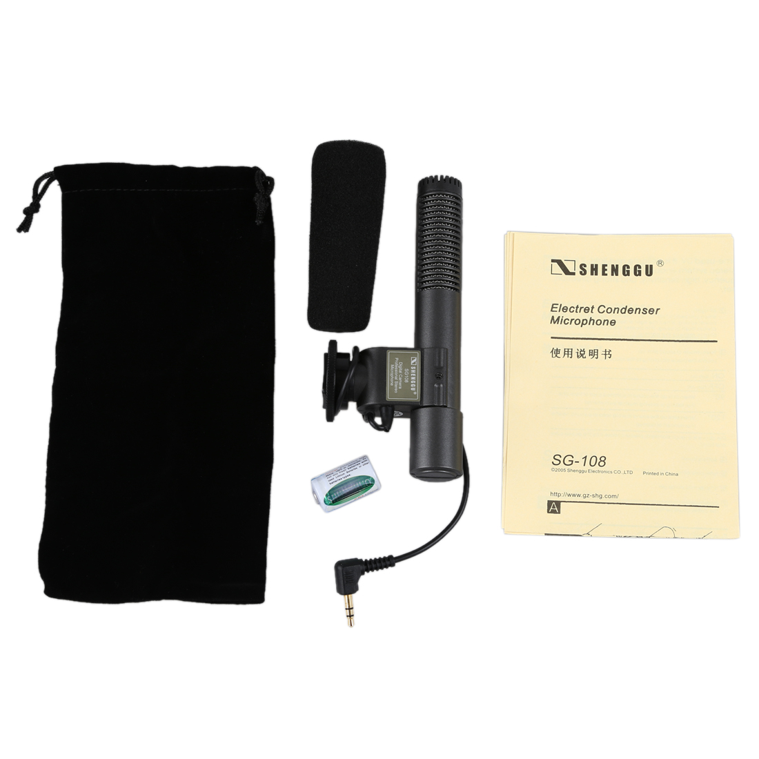 SG-108 Micrófono estéreo para cámara DSLR DV - Audio y video portátil - foto 5