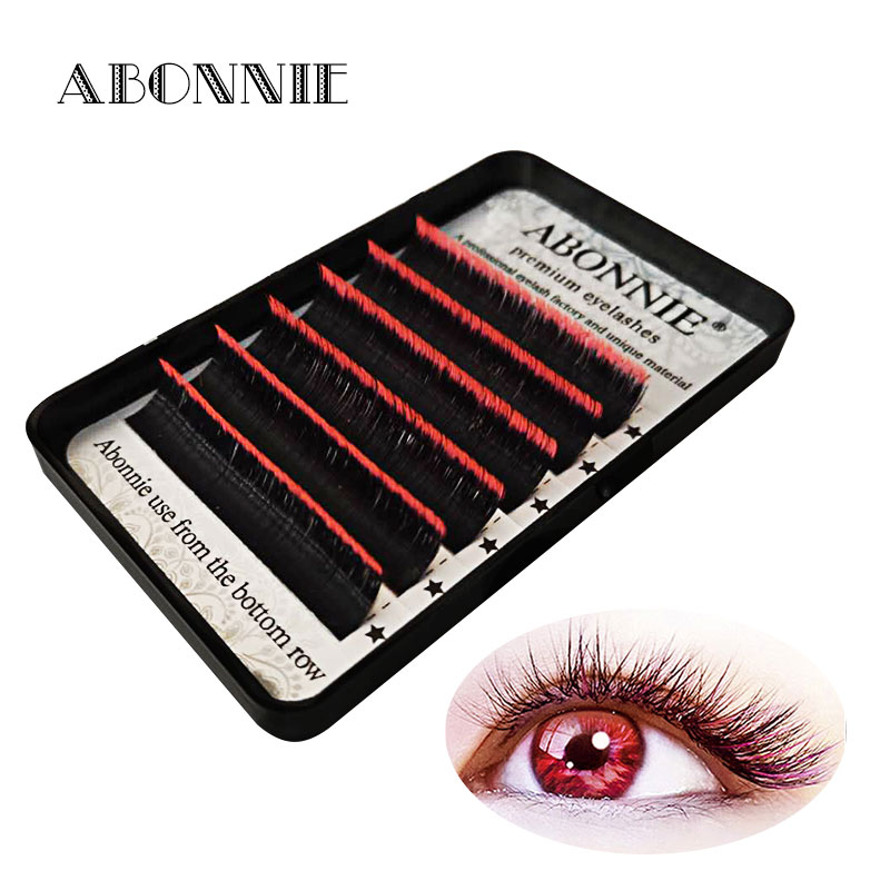 1 Case 0.07C/D Ombre Color Magic Lashes New Arrived Bloom Eyelash Easy Fan Lashes Self-making Fan Bloom Faux Mink Eyelash