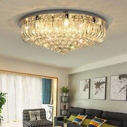 Mody doprowadziły lampy sufitowe romantyczny kryształ sufitowe oświetlenie lampy jadalnia sypialnia salon trzy kolor ściemniania Avize lampy