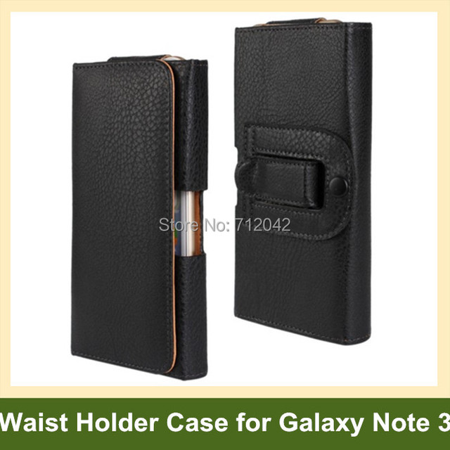 Fashion Waist Holder PU Leather Flip Cover Pouch Case for Samsung Galaxy Note 3 SM-N900 Free Shipping