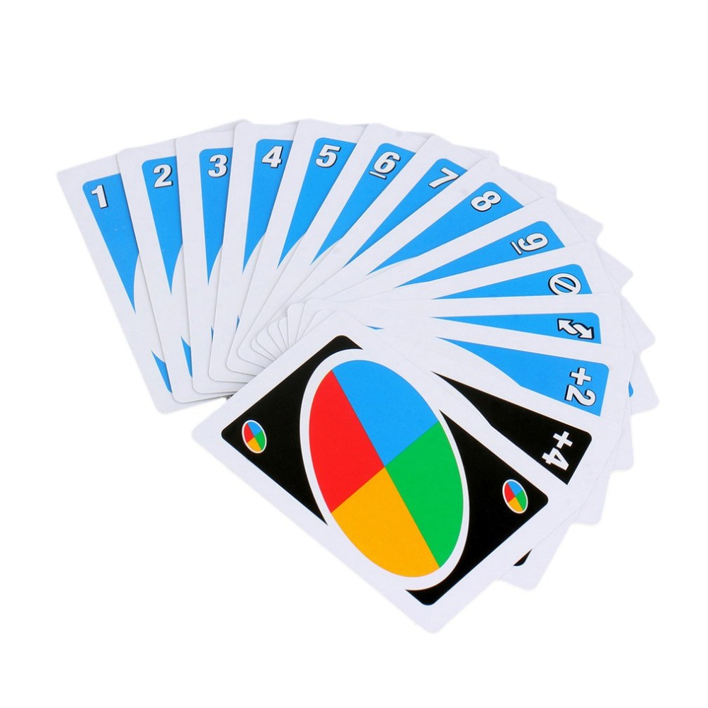 UNO Card Game Poker Family Fun One Pack of 108 pcs Pokers Card Game Fold Playing Card Entertainment Board Game