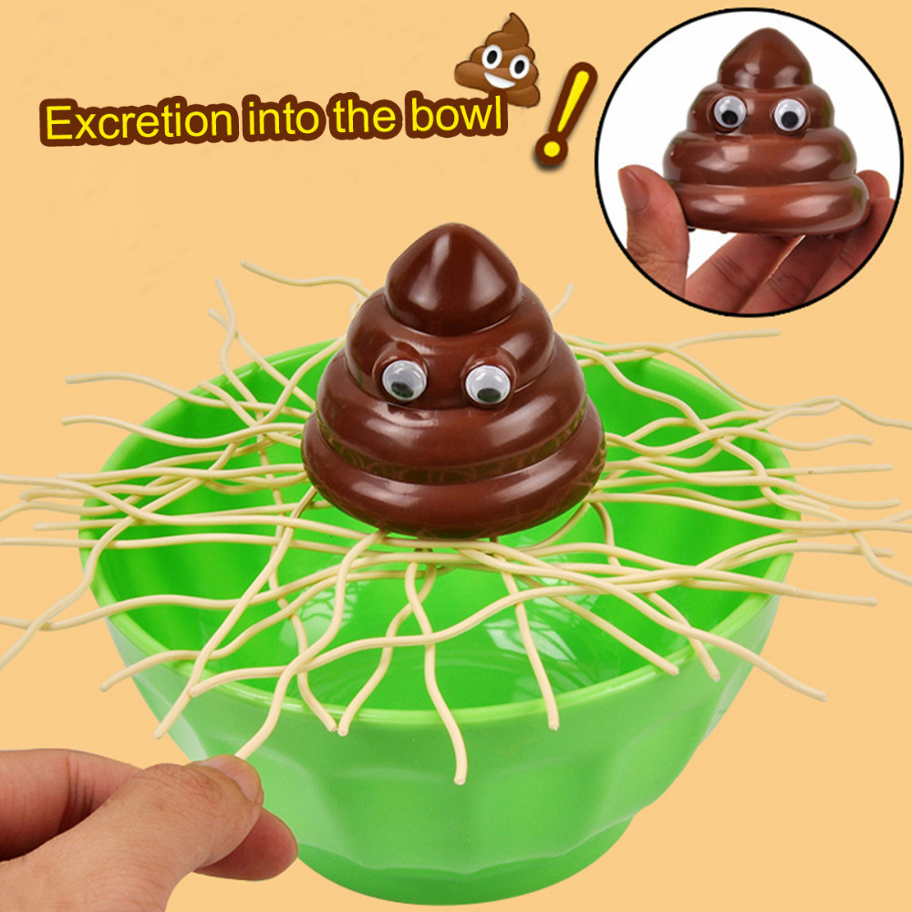 Parent-child Interaction Toy The Shit Fall Into Bowl Friend Crazy Party Prank Funny Table Toy Novel Gift