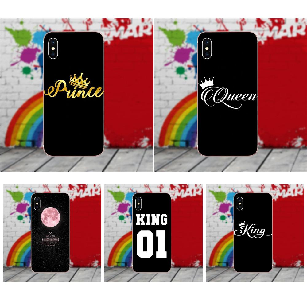 Valentine King Queen For Xiaomi Mi6 Mi 6 A1 Max Mix 2 5x 6x Redmi Slim Case Matte Black Babyskin 5 Plus 5plus New Hot Type Note 5a 4x 4a A4 4 3 Pro Soft Tpu Protector Phone Cases In Half Wrapped