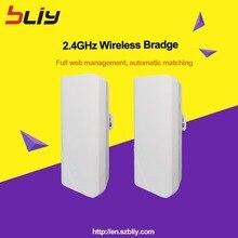 1 paire 900Mbps sans fil CPE extérieur 2KM point à point sans fil pont routeur Wifi répéteur 2.4Ghz longue portée CPE pont
