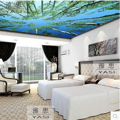 Grand 3d Stereoscopique Tv Canape Fond Peintures Murales De Papier