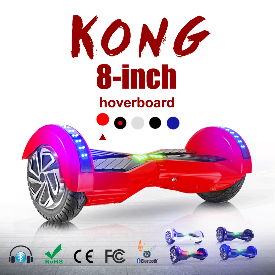 Lambo Hoverboard Bluetooth LED 8 Inch Overboard Skateboard Electric Scooter for Adults Smart Balance Board Hover Board Oxboard iscooter hoverboard 6 5 inch bluetooth and remote key two wheel self balance electric scooter skateboard electric hoverboard