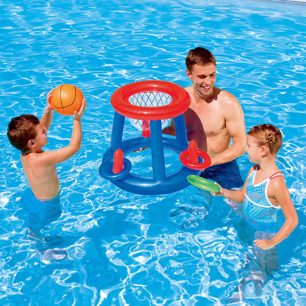Inflatable Swim Pool Football Goal Basketball Game Water Sports Swim Pool Float Toys For Children Game Toys Water Accessory