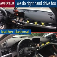 For Audi a4 a5 b9 avant 2016 2017 2018 2019 Leather Dashmat Dashboard Cover Pad Dash Mat SunShade Carpet Custom Cover LHD+RHD