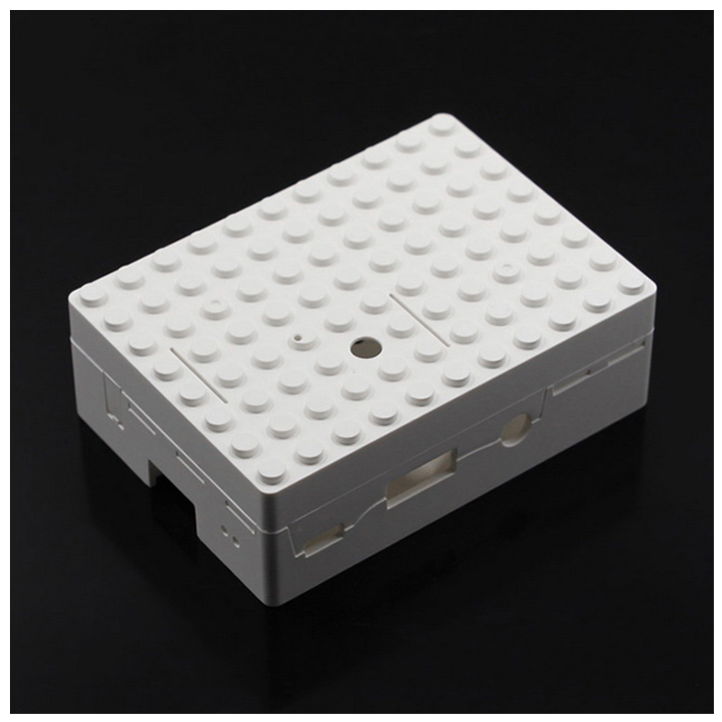 Protective Case w shape Camera Hole for Raspberry Pi - White