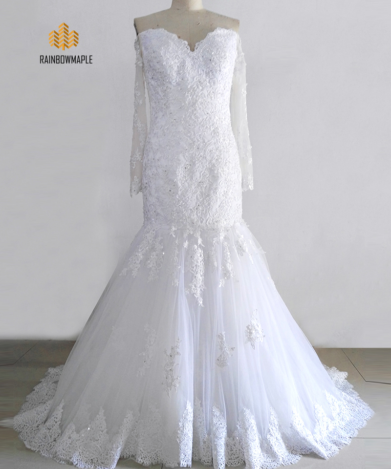 Lace mermaid wedding dress picture more detailed picture for Off white plus size wedding dresses