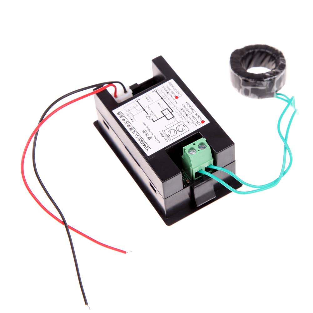 Digital Volt Amp Meter Wiring Diagram Library Ampere Voltmeter Guage Voltage Ac 100 300v 200a Black