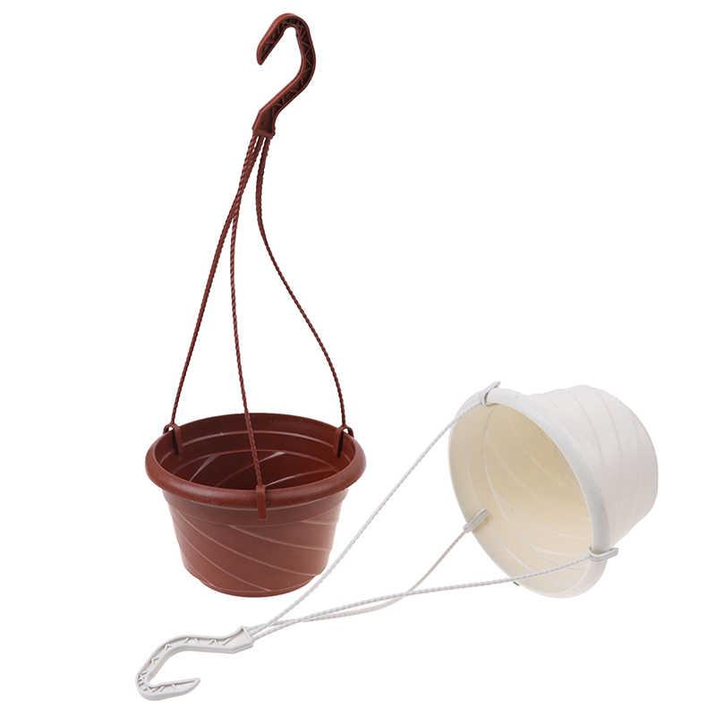 Casa Jardim Varanda vasos de plantas de Alta Qualidade Pendurado Vaso de flor Cadeia de Corda Decoração Arte Da Parede Plantador Cesta Titular