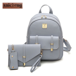 Fashion composite bag pu leather backpack women cute 3 sets bag school backpacks for teenage girls.jpg 250x250