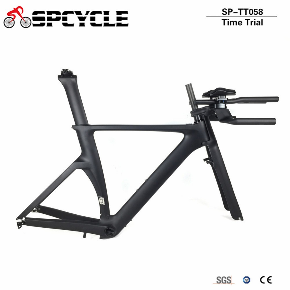 Smileteam New T1000 Carbon Road Bicycle TT Frame Carbon Time Trial Road Bike Frame Size 45/48/51/53cm Free Shipping EN SGS Test smileteam 2018 new carbon road bike frame t800 carbon di2