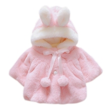 hot deal buy winter baby girls clothes faux fur fleece wool & blends coat pageant warm jacket xmas snowsuit baby hooded outerwear