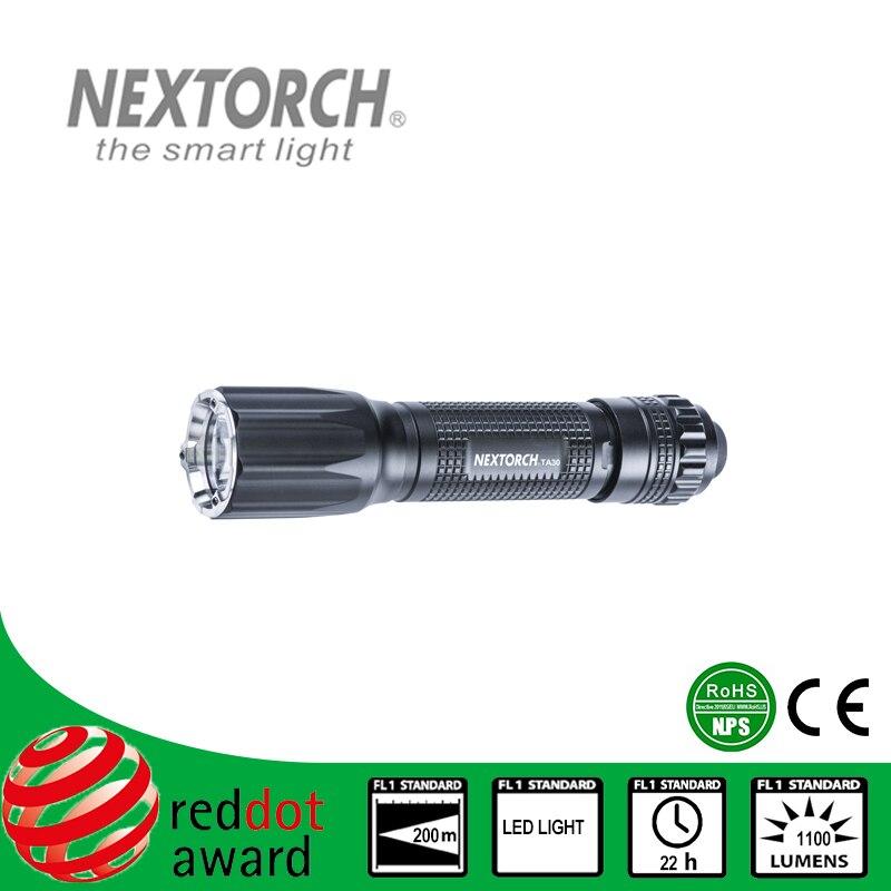 NEXTORCH Flashlight 5-8 Files 18650 Battery CE RoHS Standard Aluminum Led Bulb Tactica Flashlight # TA30 nextorch ta3 set