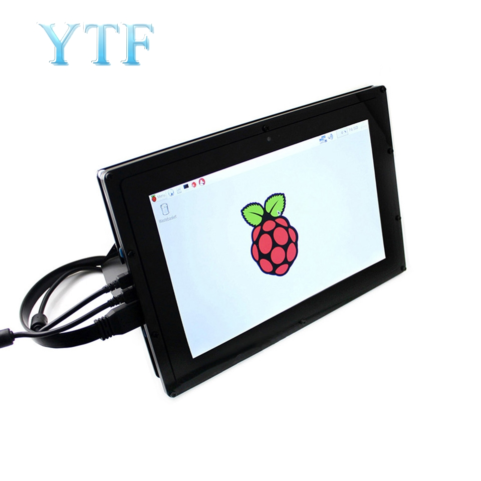 Raspberry Pi 2 3 B+ 10.1 Inch HDMI LCD Capacitive Screen IPS Screen 1280*800 With Housing