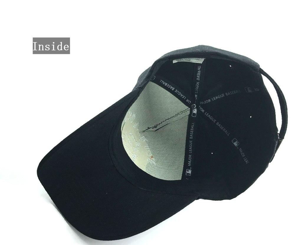 Compre Black Rebelde Gorra De Béisbol 100% Lavada Sombreros Del ... bc2e1e79e06