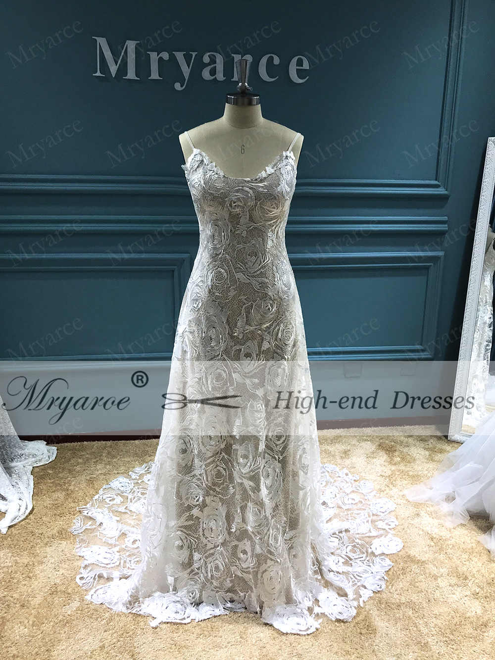 fff1f284a5f2 ... Mryarce 2019 Boho Wedding Dress Sexy Open Back Exclusive Luxury Rosette Lace  Bridal Gowns vestido de ...