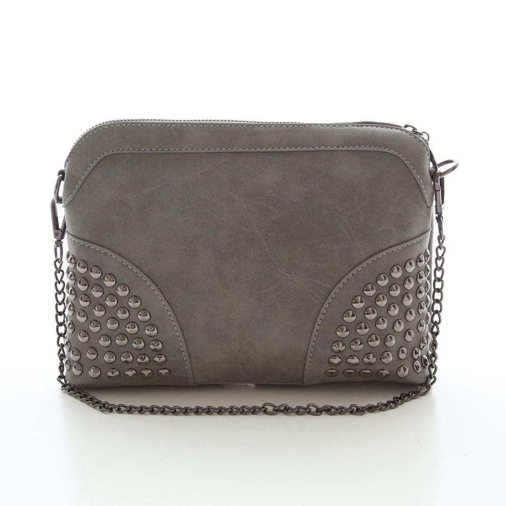 Rivet Shoulder Women Bag Vintage Scrub Shell Messenger Bags Chain Strap Crossbody Bag Clutch Bolsa Feminina Herald Fashion Brand (3)