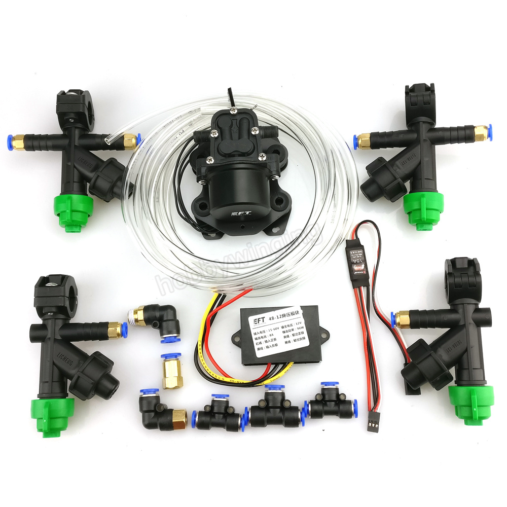 все цены на Spray system accs Nozzle + Brushless Water pump + buck module + Pipes combo for Agriculture drone 5L/10L/15L/20L в интернете